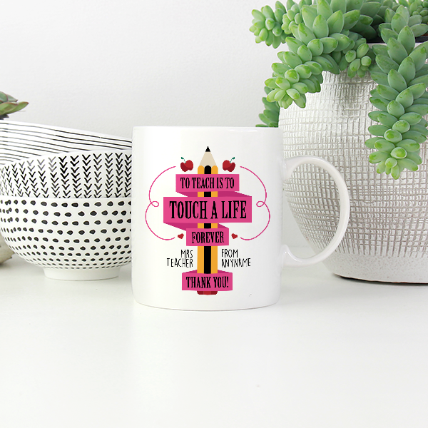 Personalised Best Teacher Thank You Mug